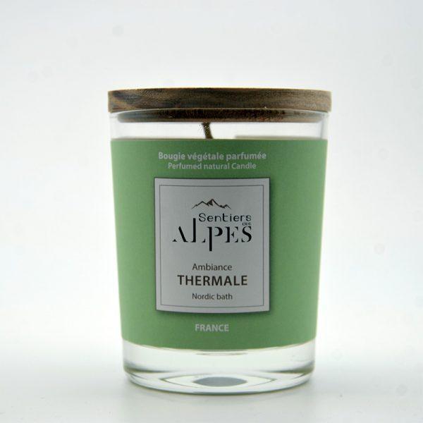 Bougie végétale parfumée - ambiance thermale