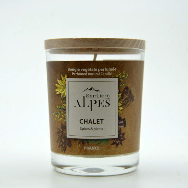 Bougie végétale parfumée - chalet