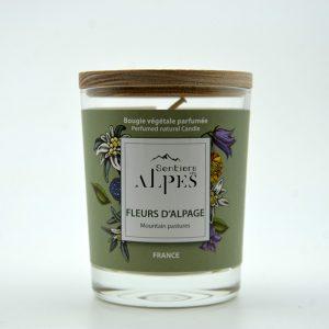 Bougie végétale parfumée - fleurs d'alpage