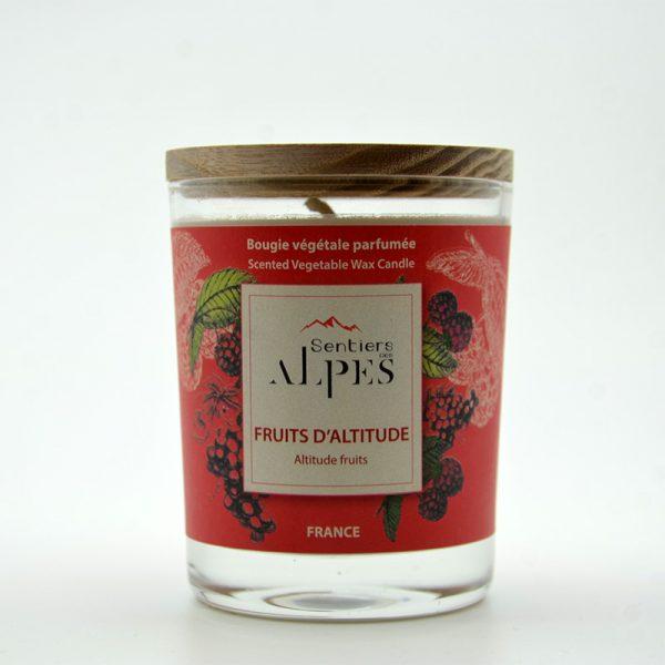 Bougie végétale parfumée - fruits d'altitude