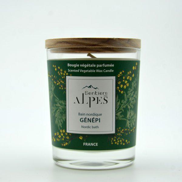 Bougie végétale parfumée - génépi
