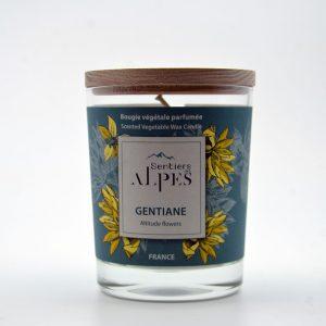 Bougie végétale parfumée - gentiane