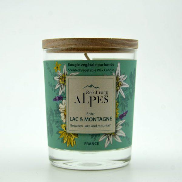 Bougie végétale parfumée - lac et montagne