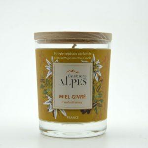 Bougie végétale parfumée - miel givré
